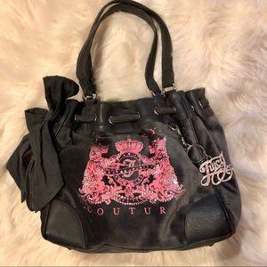 JC velvet handbag